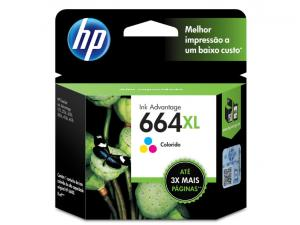 CARTUCHO DE TINTA INK ADVANTAGE HP SUPRIMENTOS F6V30AB HP 664XL TRICOLOR 8,0 ML