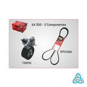 Kit Correia + Tensor Alternador GM Cruze//Sonic/Tracker 1.6/1.8 16v com ACD/DH - KIT - KA350 - Gates
