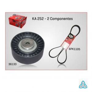 Kit Correia + Tensor Alternador Fiat Palio/Siena/Strada 1.0/1.5 8v 1997 em diante C/ ou s/ ACD - KIT - KA252 - Gates