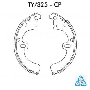 Jogo de Sapata de Freio Toyota Corolla 2000 até 2002 - Ty325CP - Frasle