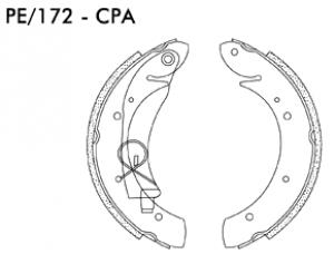 Jogo de Sapata de Freio Citroen Xsara - Peugeot Hoggar - PE172CPA - Frasle