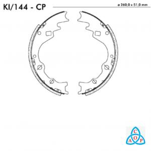 Jogo de Sapata de Freio Hyundai HR 2.5 - KI144CP - Frasle