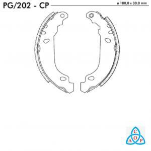 Jogo de Sapata de Freio Peugeot 206, 207 - PG202CP - Frasle
