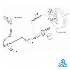 Cilindro Mestre de Embreagem Fiat Toro - Jeep Renegade - Unidade - KG15013842 - FTE
