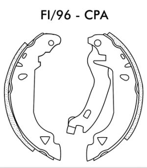 Jogo de Sapata de Freio Fiat Tipo 1.6 1993 até 1997 - FI96CPa - Frasle