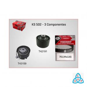 Kit Correia Dentada + Tensor Citroen Aircross/Berlingo/C3/C4/C5/C8/Picasso/Xsara Peugeot 206/307/308/Partner 1.6 16v - KIT - KS502 - Gates