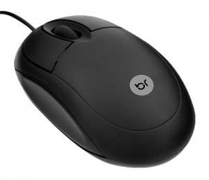 MOUSE STANDARD PRETO USB BRIGHT