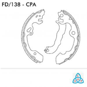 Jogo de Sapata de Freio Ford Focus - FD138CPA - Frasle