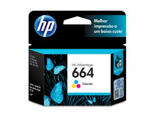 CARTUCHO DE TINTA INK ADVANTAGE HP SUPRIMENTOS F6V28AB HP 664 TRICOLOR 2,0 ML