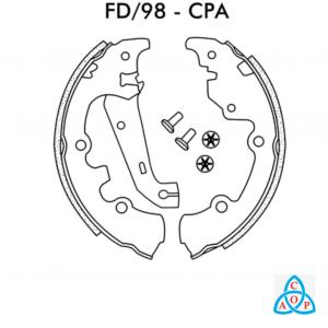 Jogo de Sapata de Freio Ford Fiesta - FD98CPA - Frasle