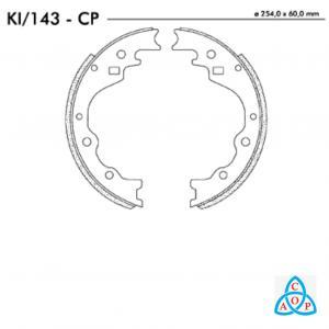 Jogo de Sapata de Freio Kia Besta - KI143CP - Frasle
