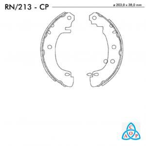 Jogo de Sapata de Freio Renault Megane - RN213CP - Frasle