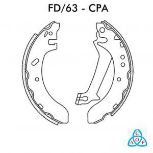 Jogo de Sapata de Freio Ford Escort - Fd63CPA - Frasle