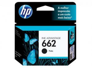 CARTUCHO DE TINTA INK ADVANTAGE HP CZ103AB HP 662 PRETO 2,0 ML