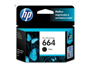 CARTUCHO DE TINTA INK ADVANTAGE HP SUPRIMENTOS F6V29AB HP 664 PRETO 2,0 ML