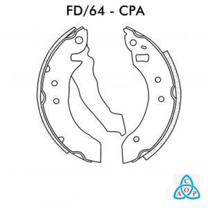 Jogo de Sapata de Freio Ford Escort, Verona, Apollo - FD64CPA - Frasle