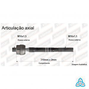 Articulação Axial Audi A3/S3/Q3, Vw Bora/Eos/Golf/Jetta/Passat - 680300 - Unidade - Viemar