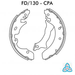 Jogo de Sapata de Freio Ford Courier - FD130CPa - Frasle