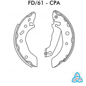 Jogo de Sapata de Freio Ford Fiesta, Ká - Gm Celta, Prisma - FD61CPA - Frasle