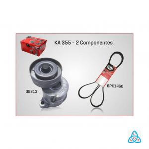 Kit Correia + Tensor Alternador GM Celta/Corsa 1.0/1.4 8v - KIT - KA355 - Gates