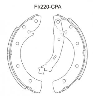 Jogo de Sapata de Freio Fiat Linea, Palio, Punto - FI220Cpa - Frasle
