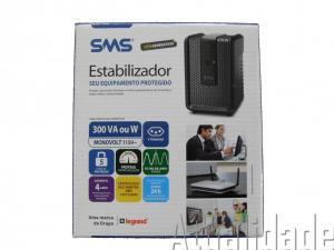 ESTABILIZADOR SMS REVOLUTION SPEEDY 300VA ENTRADA E SAÍDA 115V 4 TOMADAS