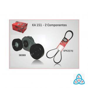 Kit Correia + Tensor Alternador Volkswagen Gol/Parati/Quantum/Santana/Saveiro Motor AP 94/ com ACD/DH - KIT - KA151 - Gates
