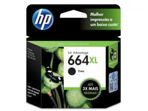 CARTUCHO DE TINTA INK ADVANTAGE HP SUPRIMENTOS F6V31AB HP 664XL PRETO 8,5 ML