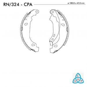 Jogo de Sapata de Freio Renault Logan, Sandero - RN324CPA - Frasle